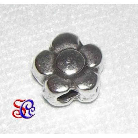 Bola flor color plata 12 mm
