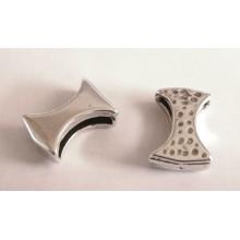 Bracelet para cuero 20 x 14 mm ranura de 14 x 2,5 mm