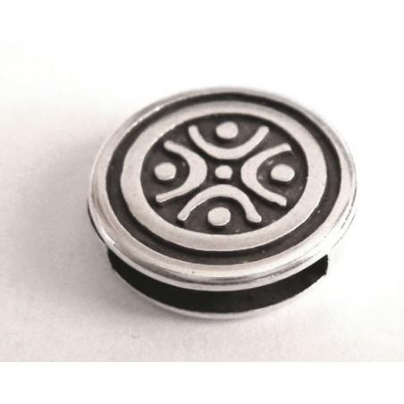 Bracelet redondo para tira de cuero 17 mm ranura de 13 x 2,5 mm