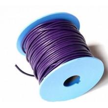 Rollo de cordon de cuero, 20 mts. 2  mm