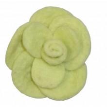 Rosa de fieltro grande Amarilla