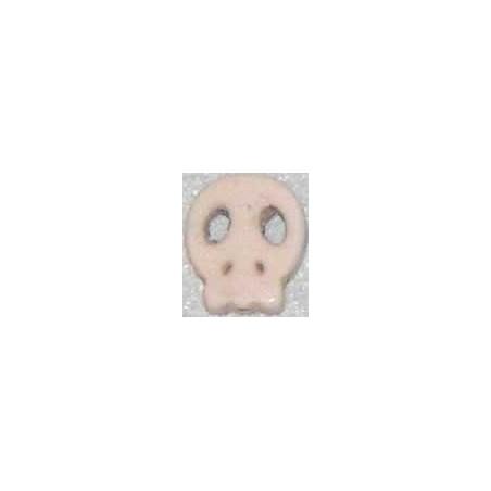 Calavera howlita de caolin plana pequeña blanca