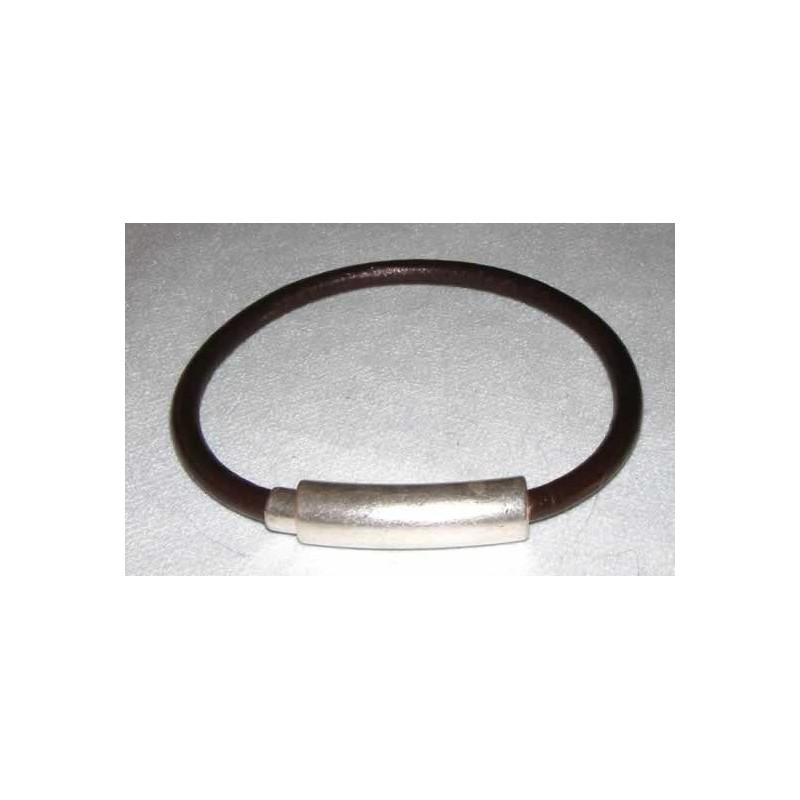 Broche iman oval tubo curvo