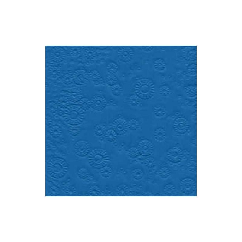 Servilleta decorada en relieve, azul