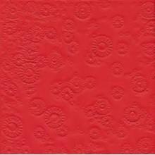Servilleta decorada en relieve, roja