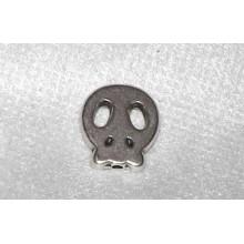 Calavera howlita metal 1,5 cm