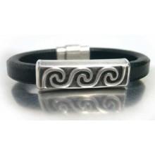 Brazalet pulsera olas plata antigua