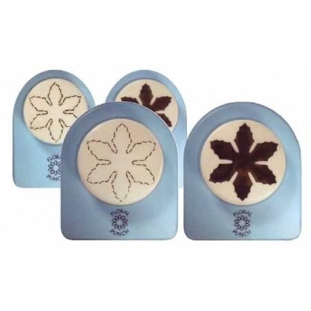 Pack de troquel y marcador de goma eva flores 6 petalos pequeña