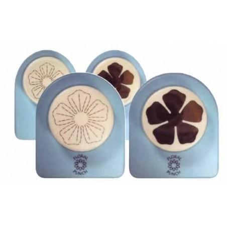 Pack de troquel y marcador de goma eva flor 5 petalos pequeña