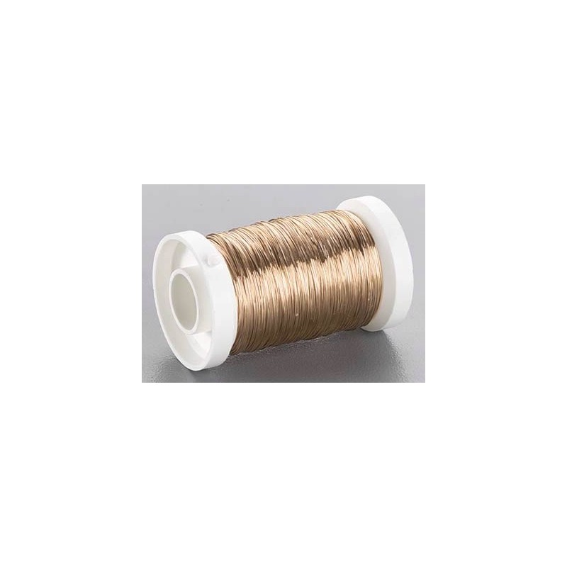 Bobina alambre laton 0,3 mm 100 gr