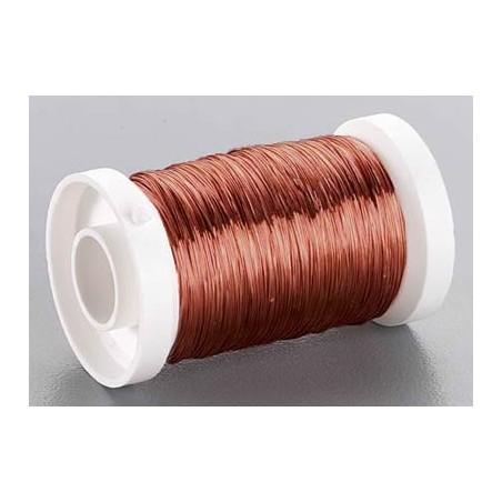 Bobina alambre marrón mate 0,35 mm 100 metros