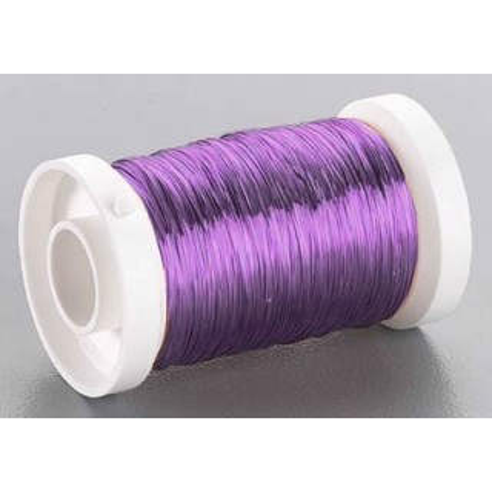 Bobina alambre violeta 0,3 mm 50 metros