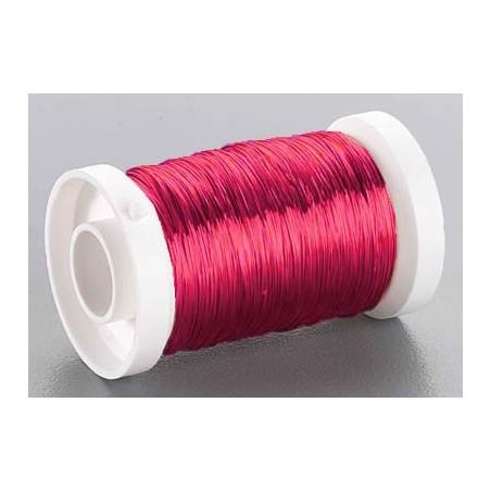 Bobina alambre rojo 0,3 mm 50 metros
