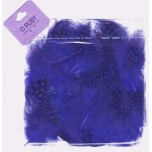 Bolsa de plumas puntos negros Azulón