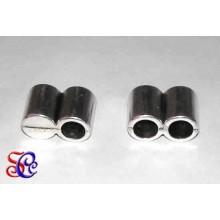 Terminal doble tubo para cuero 5 mm