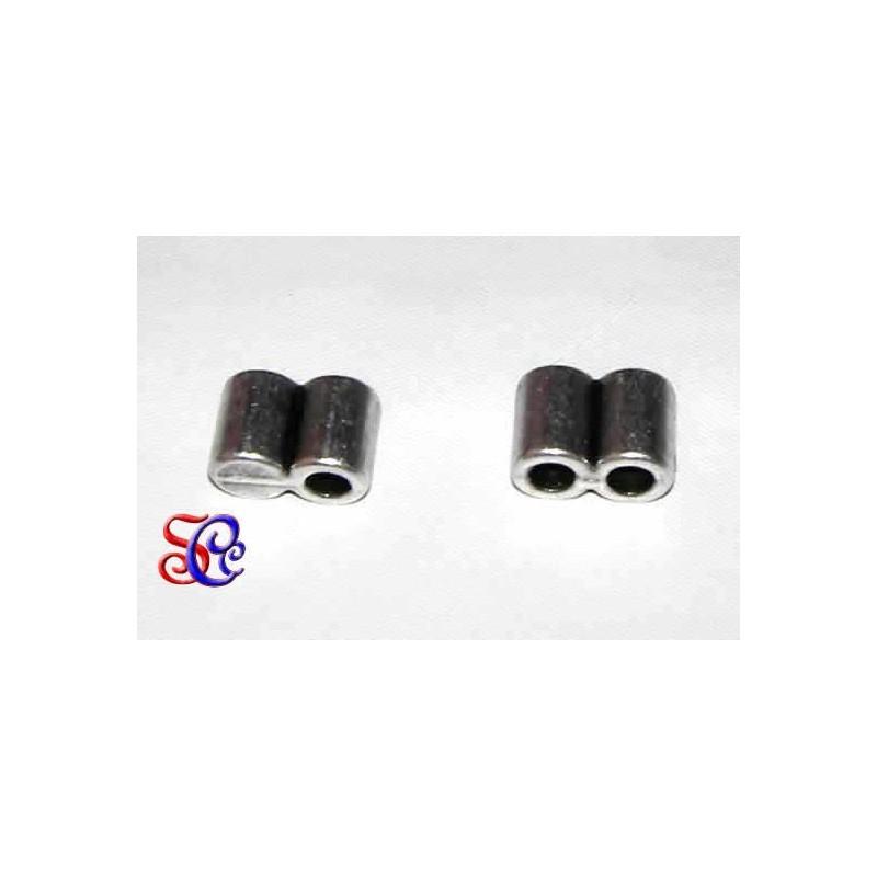 Terminal doble tubo para cuero para cuero 3 mm