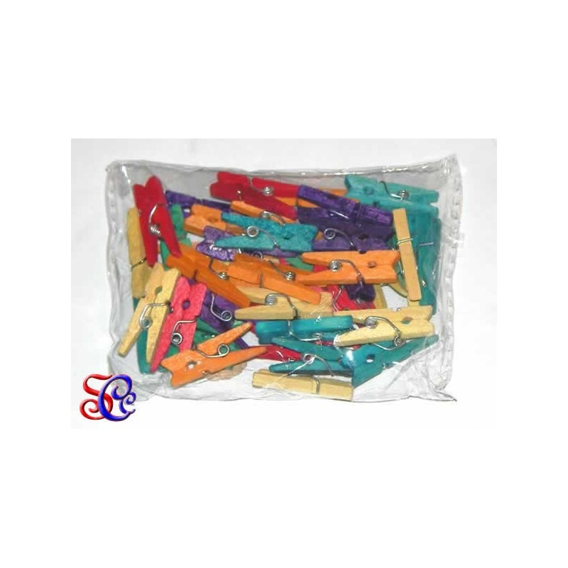 Pinzas de ropa minis colores surtidos
