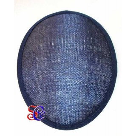 Base sinamay para tocado ovalado, 15 X 12 cm en varios colores