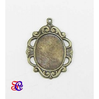 Camafeo color bronce 3,5 x 2,8 cm