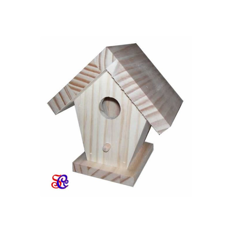 Casita pajaros madera pequeña