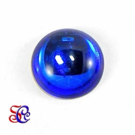 Piedra de cristal redonda Azul