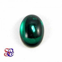 Piedra de cristal ovalada Esmaralda
