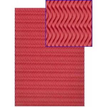 Goma eva con textura espiga roja