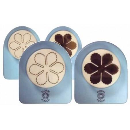 Perforadoras para goma eva cortar-marcar flor 6 petalos, grande