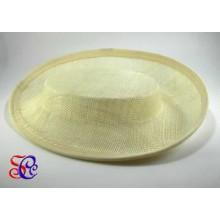 Base chato de sinamay avori para tocado, 19 X 16 x 4 cm