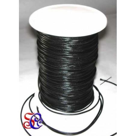 Cordón encerado Negro