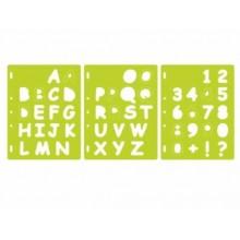 Plantillas ShapeCutter Letras y numeros, Fiskars 4885.