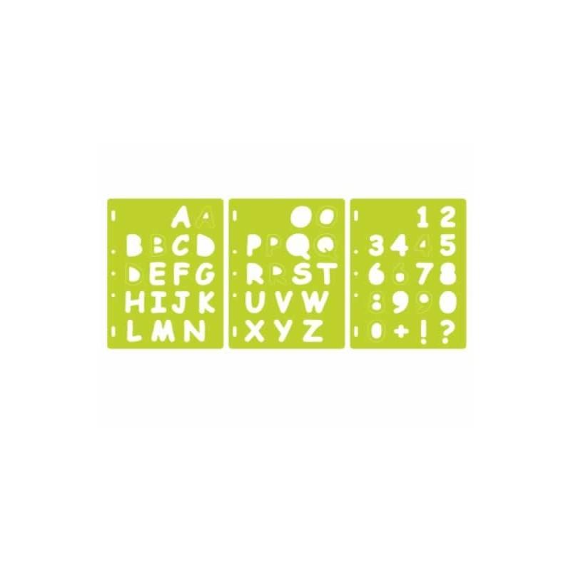 Plantilla ShaperCutter Letras y numeros, Fiskars 4885