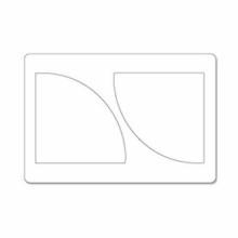 Torquel Sizzix Big Shot Patchwork Cuarto de circulo forma del troquel