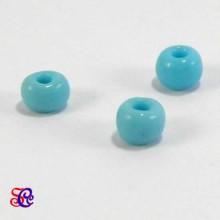 Bolsa de abalorios, rocalla azul claro