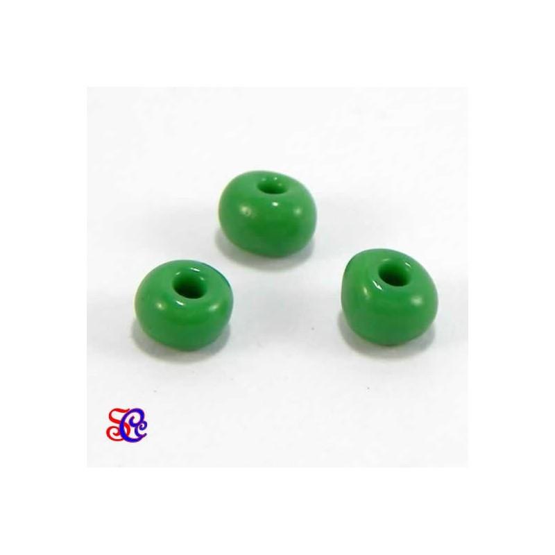 Bolsa de abalorios, rocalla Verde