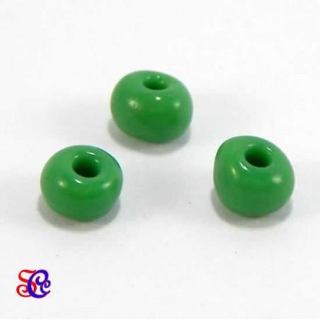 Bolsa de abalorios, rocalla Verde, 40 gr