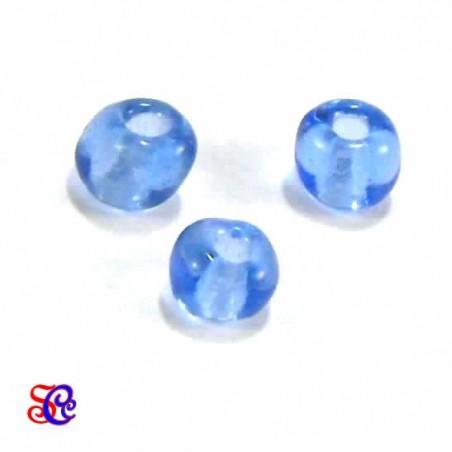 Bolsa de abalorios, rocalla Azul transparente
