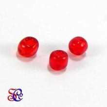 Bolsa de abalorios, rocalla Rojo transparente, 40 gr