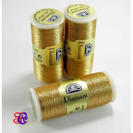 Hilo DMC metalizado bobina 35 metros Oro oscuro