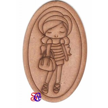 Dolly con bolso ovalada, silueta Dayka -21