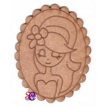 Dolly ovalada con festón, silueta Dayka -30