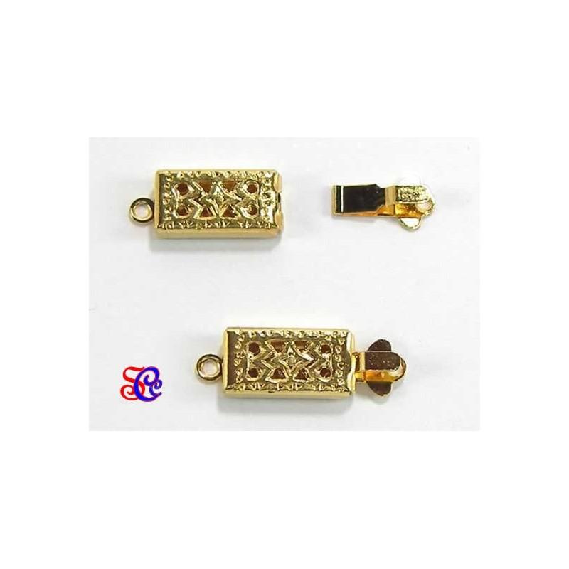 Broche filigrana para collar o pulsera Dorado