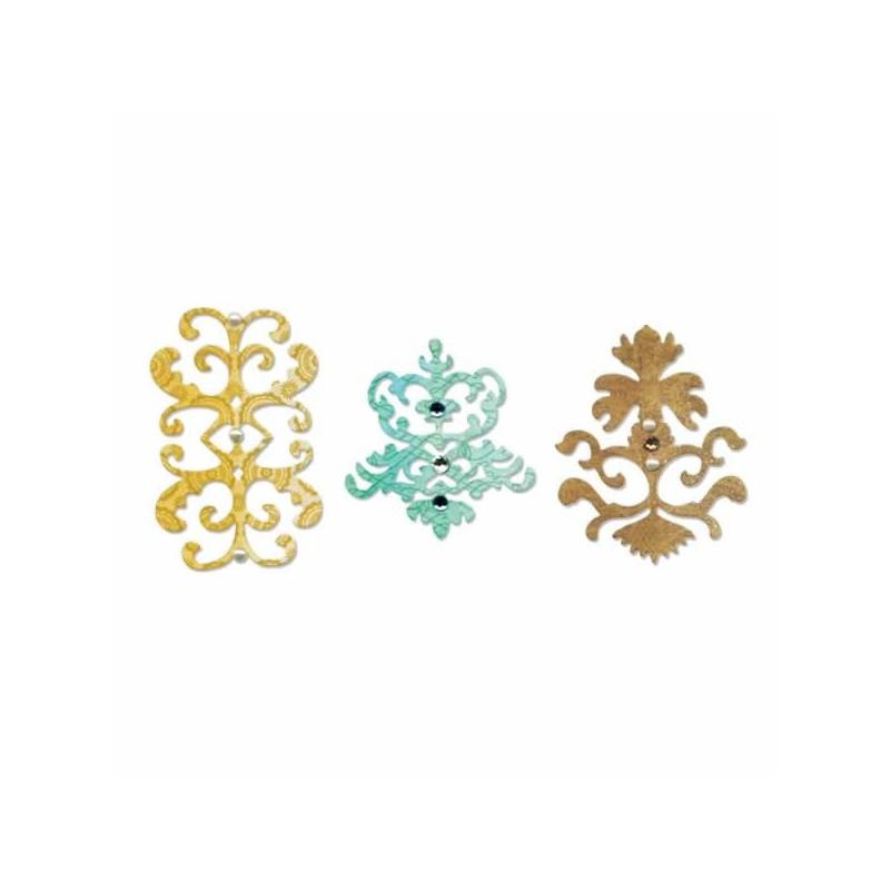 Troqueles juego de 3 Sizzlits conjunto de iconos decorartivos