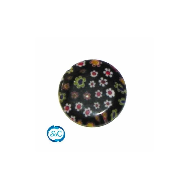 Piedra de cristal circular Marrón flores