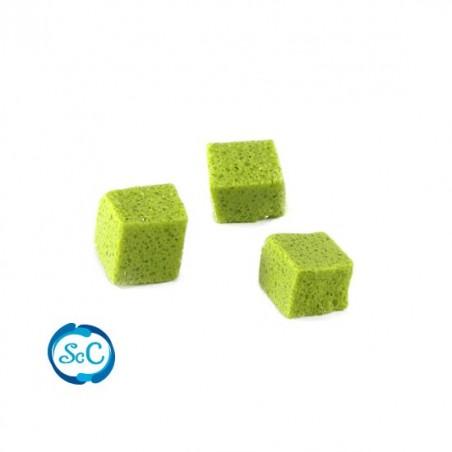 Teselas piedra natural para mosaico color Verde Pistacho