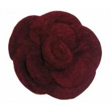 Rosa de fieltro Burdeos, 7 cm