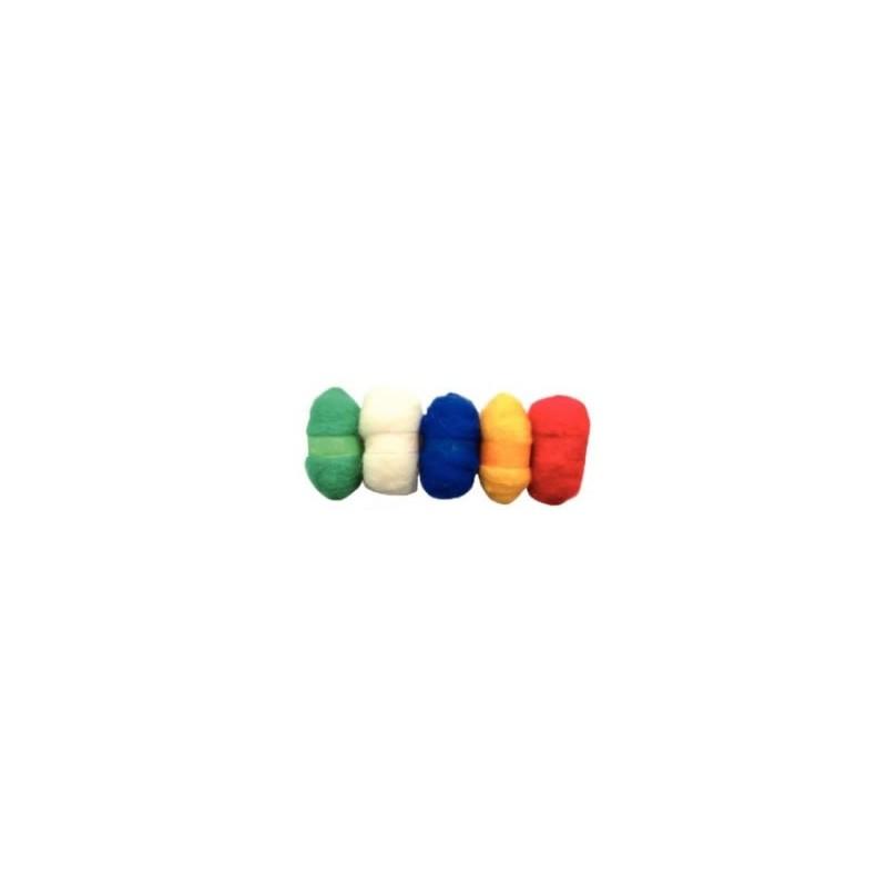 Madejas de fieltro, colores basicos