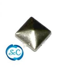 Tacha color Plata pirámide 12 mm
