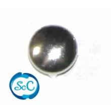 Tacha redonda color plata 10 mm