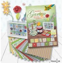 Surtido de papel decorativo Jardin